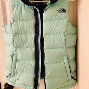 Mint green Northface puffer vest